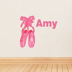 Personalised Ballerina Shoes Wall Art Decoration