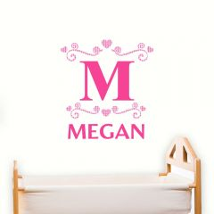 Personalised Girls Initial Wall Art Decoration