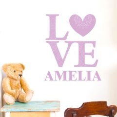 Personalised LOVE Lilac Wall Art Decoration