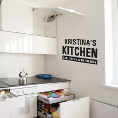 Personalised Kitchen Wall Art Decoration