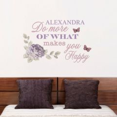 Personalised Secret Garden Wall Art Decoration