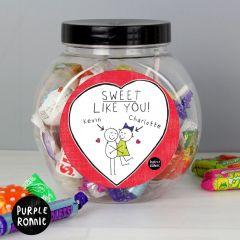 Personalised Purple Ronnie Couples Sweet Jar Gift