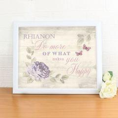 Personalised Secret Garden White Framed Poster Print