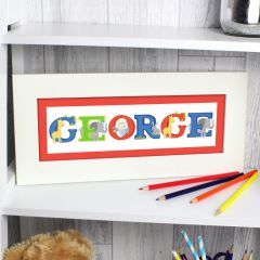 Personalised Animal Alphabet Letter Name Frame