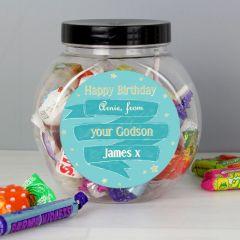 Personalised Shining Star Sweet Jar Gift