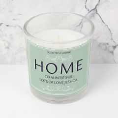 Personalised HOME Scented Candle in Jar