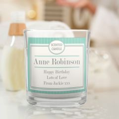 Personalised Art Deco Design Scented Candle Jar