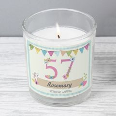 Personalised Birthday Craft Scented Candle in Jar