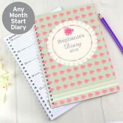 Personalised Vintage Rose Diary