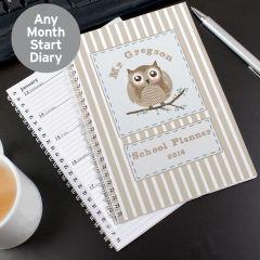 Personalised Woodland Owl Diary