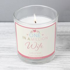 Personalised One in a Million Scented Candle in Jar