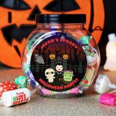 Personalised Halloween Sweet Jar Gift