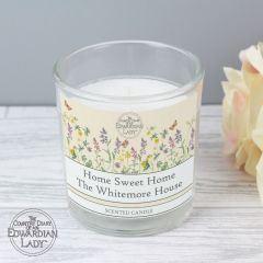 Personalised Country Diary Wild Flowers Scented Candle in Jar