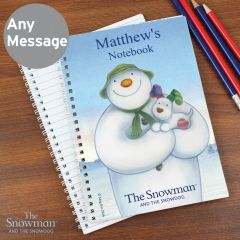 Personalised The Snowman and the Snowdog Notebook