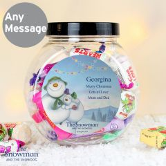 Personalised The Snowman and the Snowdog Sweet Jar Gift