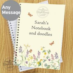 Personalised Country Diary Wild Flowers Notebook