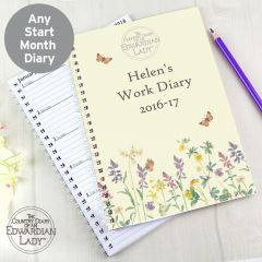 Personalised Country Diary Wild Flowers Diary