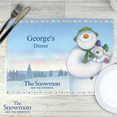 Personalised The Snowman and Snowdog Design Placemat