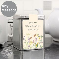 Personalised Country Diary Design Wild Flowers Tea & Tin