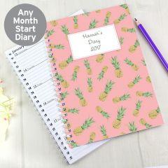 Personalised Pineapple Diary