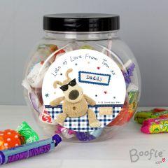 Personalised Boofle Bear Stars Sweet Jar