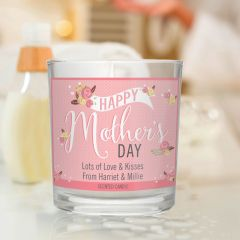 Personalised Floral Bouquet Mother's Day Scented Candle in Jar