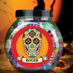 Personalised Sugar Skull Sweet Jar Gift