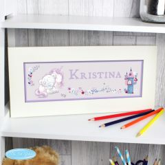 Personalised Tiny Tatty Teddy Bear Unicorn Name Frame