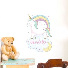 Personalised Baby Unicorn Wall Art Decoration