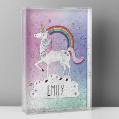 Personalised Unicorn Design Glitter Shaker