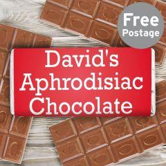Personalised Aphrodisiac Chocolate Bar