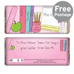 Personalised Teachers Female Chocolate Bar