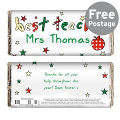 Personalised Teacher Chocolate Bar