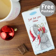 Personalised Me To You Christmas Chocolate Bar
