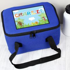 Personalised Animal Letter Childrens Lunch Bag