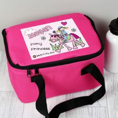 Personalised Bang on the Door Pony Girl Childrens Lunch Bag