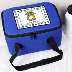 Personalised Bang On The Door Animal Alphabet Letter Boys Lunch Bag