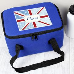 Personalised Patchwork Union Jack Childrens Lunch Bag