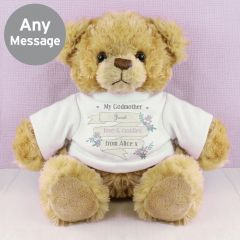 Personalised Garden Bloom Design T-Shirt Message Bear