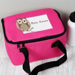 Personalised Woodland Owl Childrens Lunch Bag