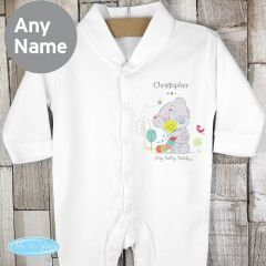 Personalised Tiny Tatty Teddy Cuddle Bug Babygrow 0-3 Months