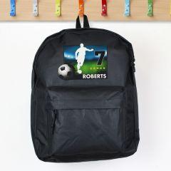 Personalised Team Player Black Backpack
