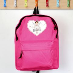 Personalised Fairy Princess Design Pink Backpack
