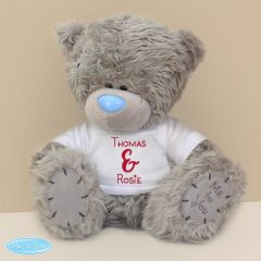Personalised Me to You Teddy Bear with Couples T-Shirt