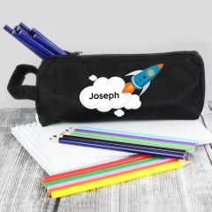 Personalised Rocket Ship Design Pencil Case