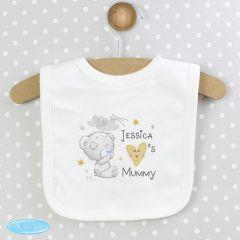 Personalised Tiny Tatty Teddy Bear I Heart Baby Bib