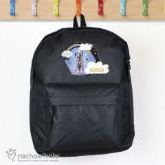 Personalised Dalmatian Black Backpack by Rachael Hale