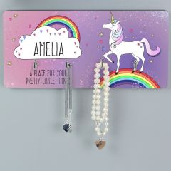 Personalised Unicorn Design Jewellery Hooks