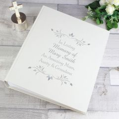 Personalised Sentiments Photo Album with Sleeves