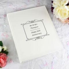 Personalised Silver Photo Album With Sleeves